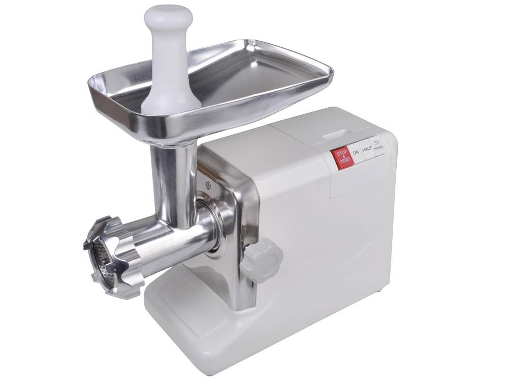 TMS Electric 2.6 HP 2000 Watt Industrial Meat Grinder Butcher Shop 3 Cutting Blades (White) by TMS