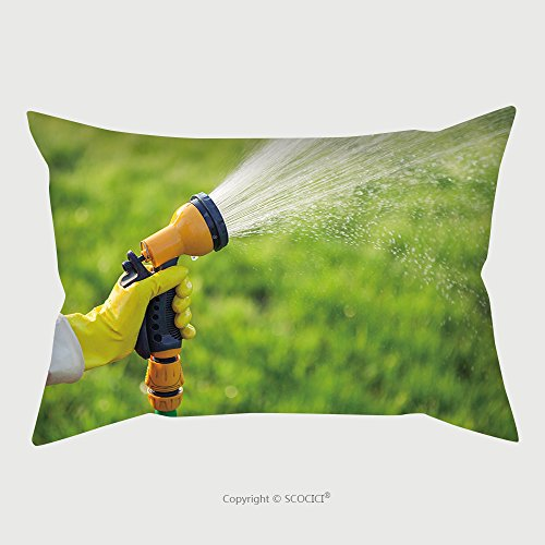 Custom Microfiber Pillowcase Protector Hand With Garden Hose Watering Plants Gardening Concept 418695349 Pillow Case Covers Decorative