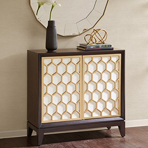 Accent Cabinet Honeycomb/White/Ebony (Madison Comb)
