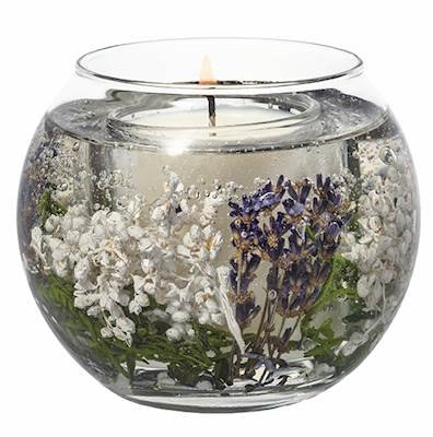 Stoneglow LAVENDER FIELDS Botanics Natural Wax Fishbowl Refillable Scented Jar Candle Fields Jar Candle