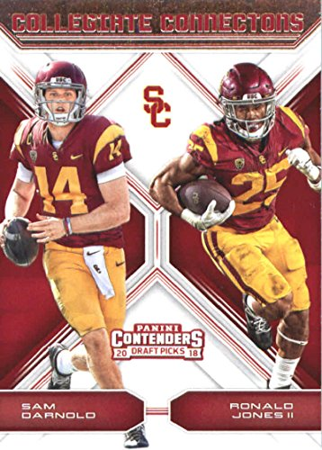 2018 Panini Contenders Draft Picks Collegiate Connections #1 Ronald Jones II/Sam Darnold USC Trojans Football Card