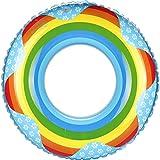 kinokoo Swim Rings Pool Toy Pool Float Donut-Rainbow Print(BLUE,2-4yrs,X-small)