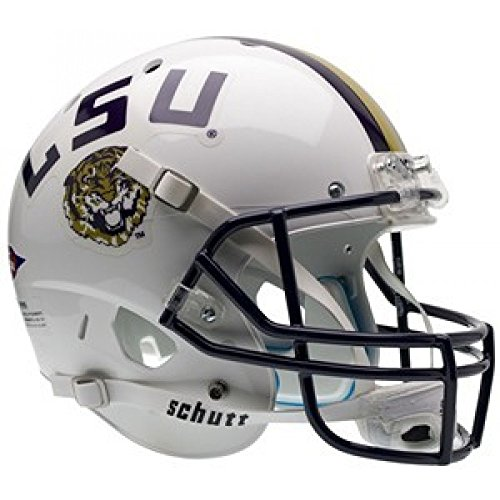 Schutt NCAA LSU Tigers White Replica XP Full Size Football (Lsu Tigers White Helmet)
