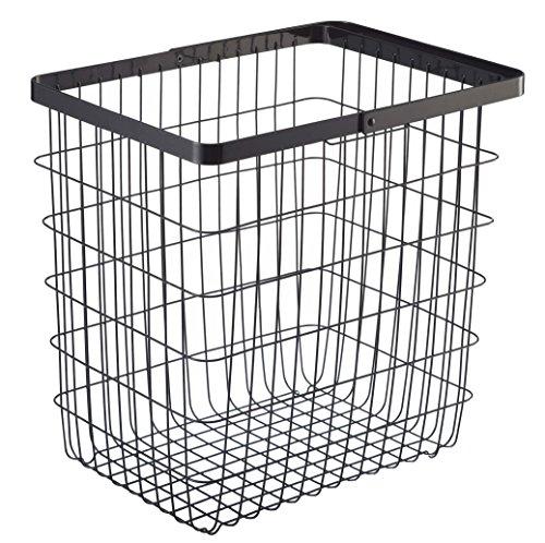 (YAMAZAKI home Tower Laundry Basket - Large Storage Hamper, Black)