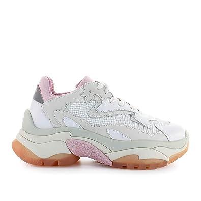 53aca397a2d4d7 Ash Chaussures Femme Baskets Addict Blanc Rose Printemps-été 2019 ...