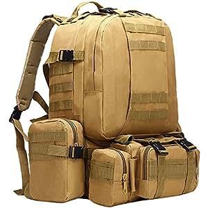 berchirly Militar mochila táctica bolsa grande Pack caza Camping, caqui: Amazon.es: Deportes y aire libre