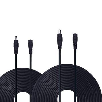 RVB bande,CCTV cam/éras,voiture,syst/èmes de cam/éra IP Cam/éra DVR,AHD Moniteurs kabenjee 2x 5m C/âble rallonge Bloc dalimentation DC 5,5mm x 2.1mm DC connecteur fil Rallonge pour routeur WLAN