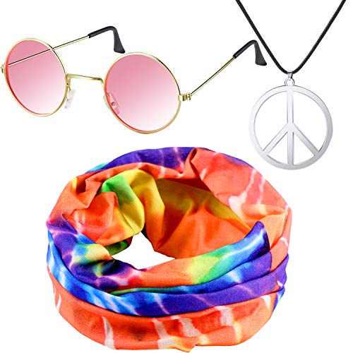 Hippie Costume Set, Include Hippie Headband, Peace