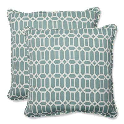 """Pillow Perfect Outdoor/Indoor Rhodes Quartz Lumbar Pillows, 11.5"""" x 18.5"""", Blue, 2 Pack - Includes two (2) outdoor pillows, resists weather and fading in sunlight; Suitable for indoor and outdoor use Plush Fill - 100-percent polyester fiber filling Edges of outdoor pillows are trimmed with matching fabric and cord to sit perfectly on your outdoor patio furniture - living-room-soft-furnishings, living-room, decorative-pillows - 51QRqir6VWL. SS400  -"""