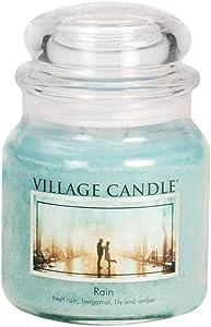 Village Candle Rain 16 oz Glass Jar Scented Candle, Medium