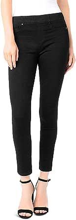 Liverpool Womens Chloe Ankle Skinny in Silky Soft Stretch Denim in Black Rinse