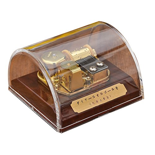 YouTang Creative Transparent Acrylic 18-Note Wind-up Musical Box Dome Box with Stop Button,Musical Toys,Tune:Edelweiss,Clear ()