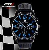 2014 F1 Grand Touring GT Men Sport Quartz Watch Military Watches Wristwatch Fashion Men's Watches (Blue)