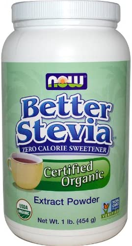 Now Better Stevia Organic Sweetener, 1 lb.