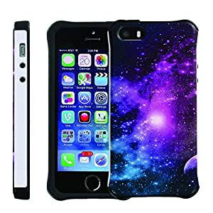 [ManiaGear] SLIM Rugged Hybrid Image Protector Cover (Purple Galaxy ) for Iphone 5 / 5S