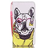 iPod Touch 6 Case, Light weight [Wrist Strap Support] [Vivid Art Painting] PU Leather Magnetic Closure Wallet Case With Stand Flip Cover For iPod Touch 6 Bundle With One Stylus