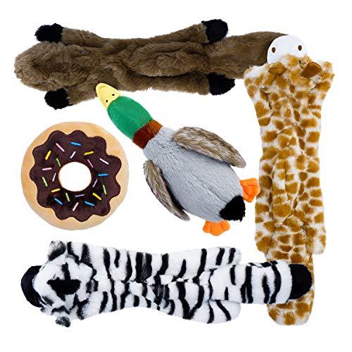 Toozey Hundespielzeuge Quitschend – Füllungsfreie Spielzeug für Hund und Plüschtierspielzeuge mit Füllung – Sicher…