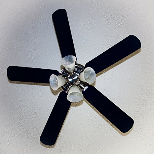 Fancy Blade Ceiling Fan Accessories Blade Cover Decoration, Solid (Navy Blue) Fancy Fan