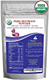 1 lb. Premium Organic Beetroot Powder. 100% USDA Certified. More Fiber and Less Sugar Than Beet Juice. All Natural Energy Boost