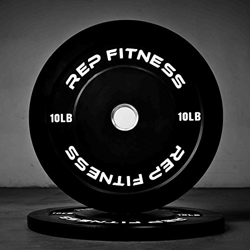 Rep Bumper Plates for Strength and Conditioning Workouts and Weightlifting 10 lb Pair by Rep Fitness (Image #1)