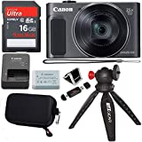 Canon PowerShot SX620 Digital Camera w/25x Optical Zoom - Wi-Fi & NFC Enabled (Black), SanDisk Ultra 16GB SDHC Memory Card, Ritz Gear Point & Shoot Camera Case and Accessory Bundle