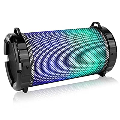 SereneLife Portable Wireless Bluetooth Boombox Stereo Speaker & FM Radio System for iPhone & PC with Digital Display