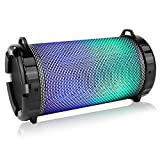 SereneLife Portable Wireless Bluetooth Boombox Stereo Speaker & FM Radio System for iPhone & PC with Digital Display, Rechargeable Battery, 3.5mm Aux, USB & Micro SD, MP3 Support & Mic Slots (SLBSP12)