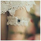 shinyis Handmade Strecth Lace Bridal Wedding Garter Set with Toss Garter and Keepsake Garter for Bride Dress