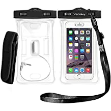 Floatable Waterproof Phone Case, Vansky Waterproof Phone Pouch Dry Bag With Armband and Audio Jack for iPhone 8/8Plus, 7/7 Plus, Galaxy /Google Pixel/LG/HTC, TPU Construction IPX8 Certified