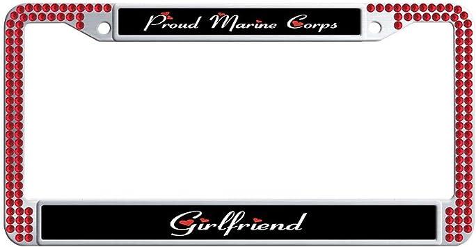 PROUD MARINE GIRLFRIEND  License Plate Frame