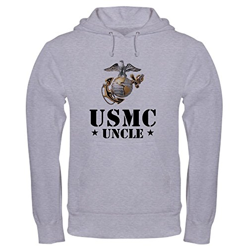 CafePress USMC Uncle Sweatshirt - Pullover Hoodie, Classic & Comfortable Hooded Sweatshirt - Usmc Warm Up Jacket