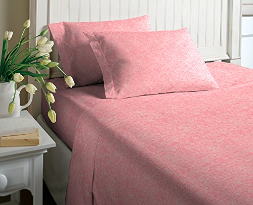 Morgan Home Cotton Rich T-Shirt Soft Heather Jersey Knit Sheet Set - All Season Bed Sheets,, Warm and Cozy Fashions (Queen, Heather - Queen Sheet Knit Jersey