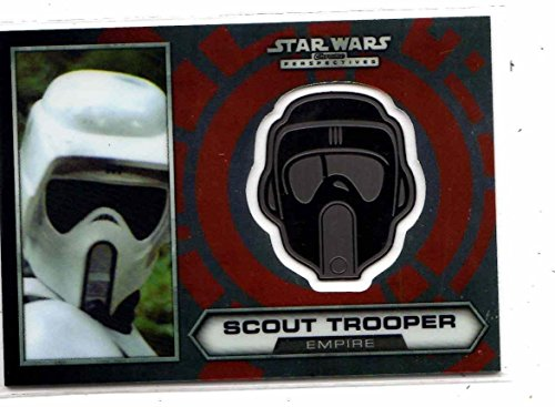 (Star Wars Chrome Perspective Scout Trooper Medallion #25 card)