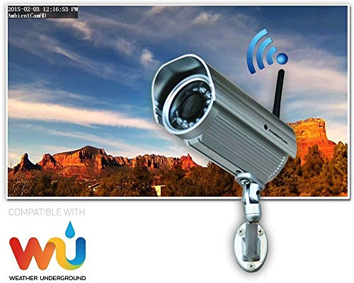 Ambient Weather AMBIENTCAMHDA Outdoor Wifi Wundercam with Free Wunderground Hosting Services