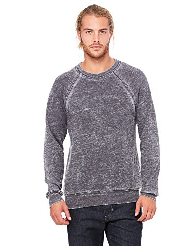 Hooded Bella Pullover (Bella + Canvas Unisex Sponge Fleece Crew Neck Sweatshirt, 2XL, GREY ACID FLEECE)