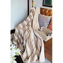 Tache 63x87 Inch Brown Threshold Faux Fur Throw Blanket