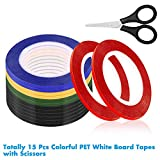 Cridoz 15 Rolls 1/8 Whiteboard Tape Pinstripe
