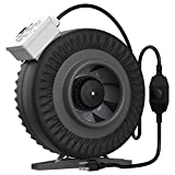 VIVOHOME 6 inch 440 CFM Round Exhaust Inline Duct Fan with Speed Controller and Leather Sheath