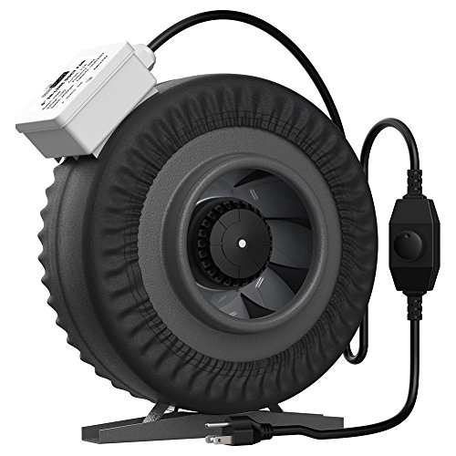 (VIVOHOME 4 Inch 203 CFM Round Exhaust Inline Duct Fan with Speed Controller and Leather Sheath )