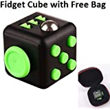 Stress Relief Reliever Magic Fidget Cube Dice Anxiety Toy With Bag
