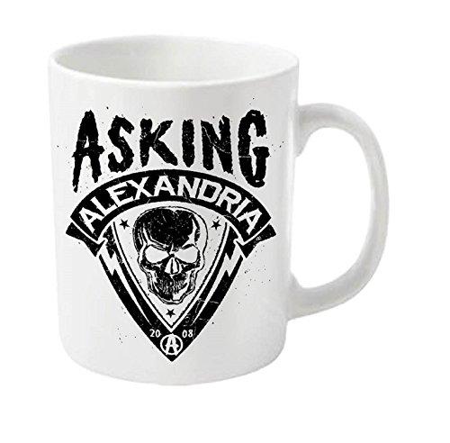 Asking Alexandria Skull Shield Official New White Boxed Mug