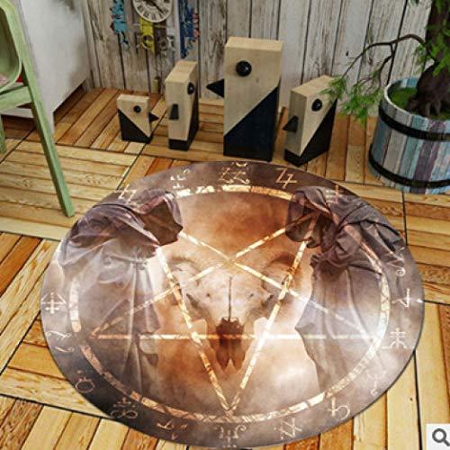 (Round Carpet Modern Acrylic Cartoon Children's Room Rug Living Room Creative Design Mat)