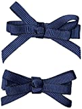 JoJo Maman Bebe Pair Of Thin Bow Clips-Navy-One Size