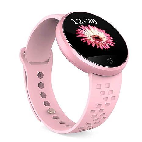 Multifuncional Reloj Redondo Inteligente,Pulsera de Fitness Deportivo con Pulsometro y Podemetro Monitores,Smartwatch