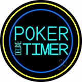 The Sign Store N105-14718 Poker Timer Deluxe Neon Sign44; 26 x 3 x 26 in.