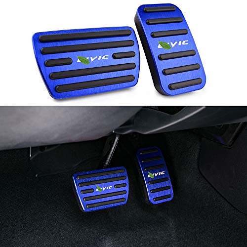 2019 Accelerator Pedal - Thenice for 10th Gen Civic Anti-Slip Foot Pedals Aluminum Brake and Accelerator Pedal No Drilling Covers for Honda Civic 2020 2019 2018 2017 -Blue