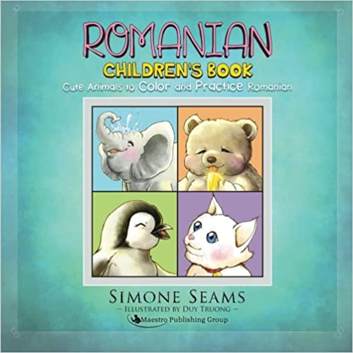 Romanian Childrens Book Cute Animals to Color and Practice Romanian