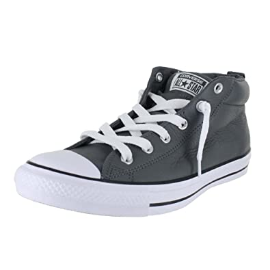 70fc12f37ae8 ... canada amazon converse mens shoes chuck taylor street mid leather  thunder gray sneakers fashion sneakers 33825 ...