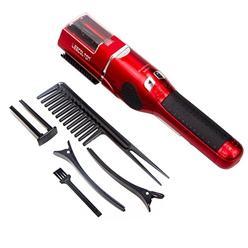 Split Ends Trimmer For Women By Lescolton Damaged Dead Hair Remover Cordless Universal Voltage Cutting Dry Slick Hair MachineRed