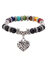8mm 7 Chakra Natural Stone Yoga Buddha Bracelet Healing Energy Beads Wristband